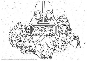 angry birds wars coloring pages angry birds starwars free colouring pages