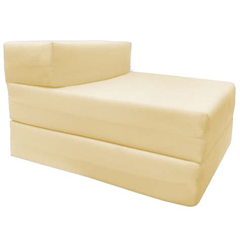 folding foam futon single fold out block foam z bed sofabed guest chair bed