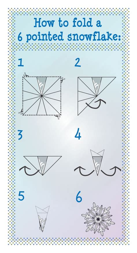 Folding Paper For A Snowflake - 12 days of diy how to make a snowflake