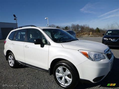 subaru forester 2016 white 2016 crystal white pearl subaru forester 2 5i 109909026