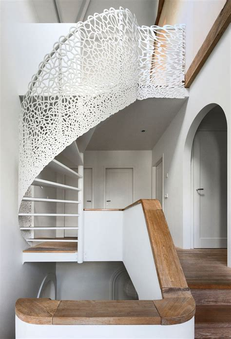 fancy staircase rustic dutch seaside residence gets a modern makeover