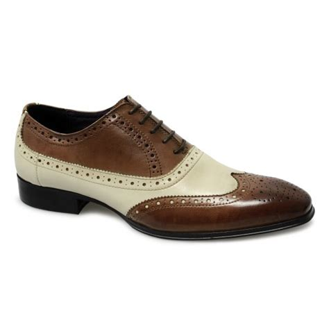 Handmade Mens Brogues - handmade mens brogue brown and white leather shoes