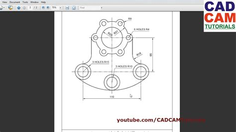 online tutorial of autocad autocad training exercises for beginners 4 youtube