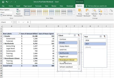 excel pivot table how to add slicers to pivot tables in excel in 60 seconds