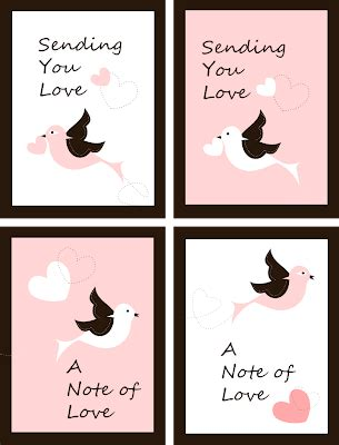 printable love note cards free printable love notes pink and chocolate card free