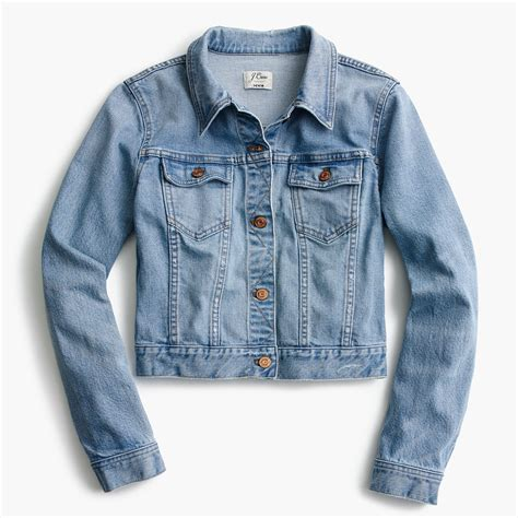 denim crop cropped denim jacket in cavanal wash