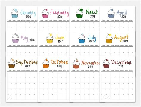printable calendar 2018 fun make organizing your schedule fun with your very own