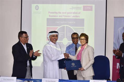 Cima Mba by Cima To Certify Mba Graduates From Of Dubai
