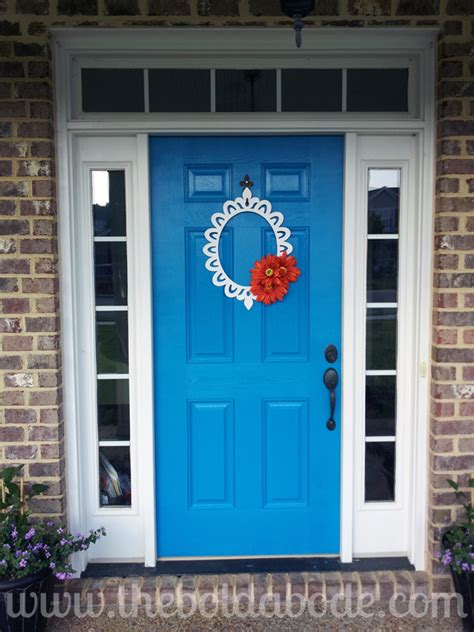 bright blue front door i love color and nothing says fun like a bright blue