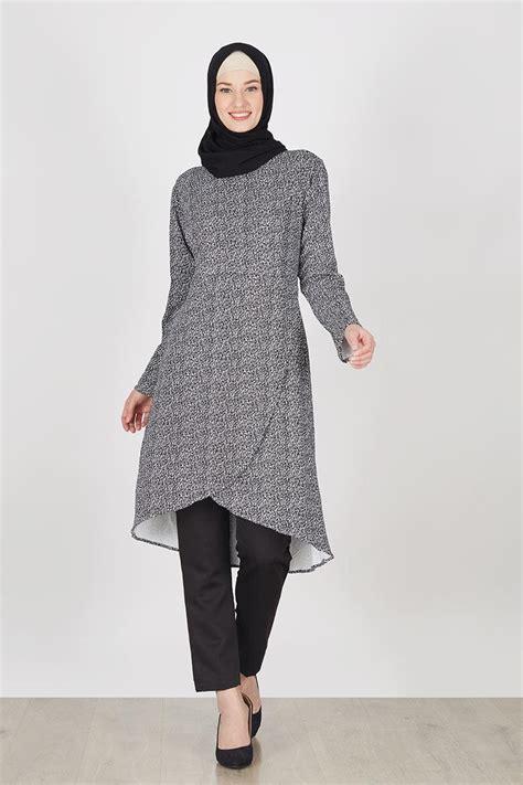 Blouse Meica Hitam Sw Blouse Wanita Spandex Hitam Terbatas sell panjang abstrak hitam tops hijabenka