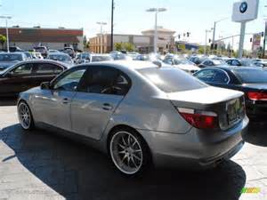 silver grey metallic 2007 bmw 5 series 530i sedan exterior