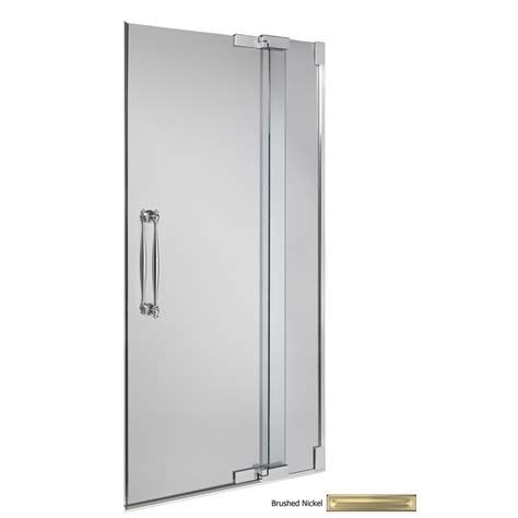 shower doors shop kohler frameless pivot shower door at lowes com