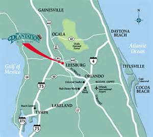 florida road map with exits