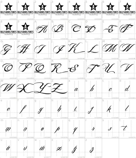 tattoo fonts billy argel billy argel font