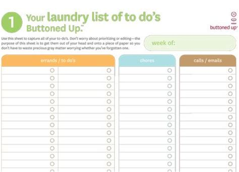 get organized organizer printable sheets to do list free printable quot laundry list of to do s quot template