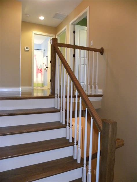 Wooden Stair Banisters Painting Banisters And Stair Steps Inside Home Decor U