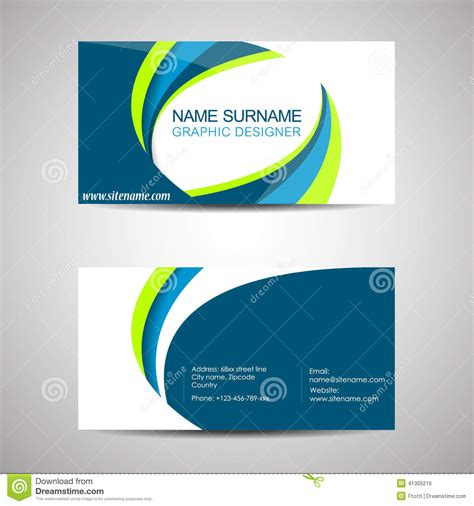 z card design template business card template or visiting card stock vector