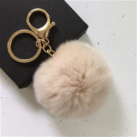 Black Furball Bag Charm new fur pom pom keychain fur from yogastudio55 on