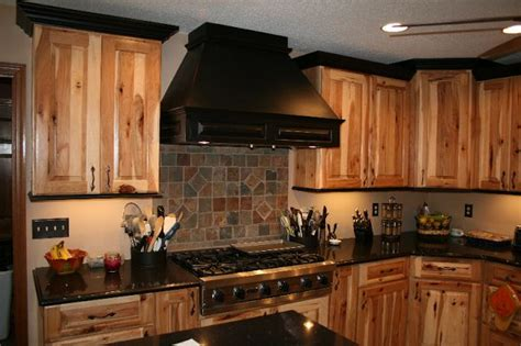 Knotty Hickory Cabinets Kitchen by Knotty Pine Cabinets Building A House More
