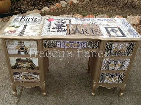 Decoupage A Desk - 17 best images about decoupage furniture on