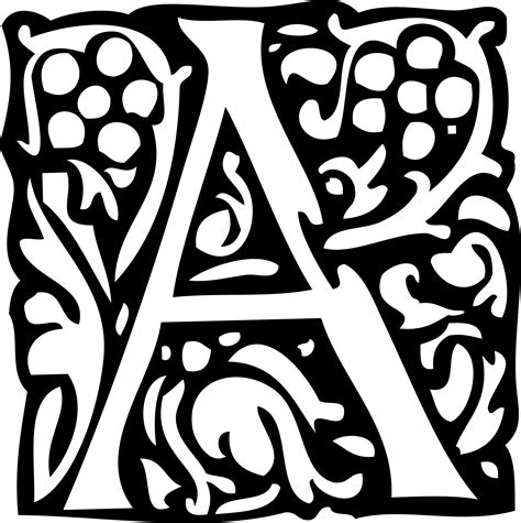 Inisial A clipart initial letter a