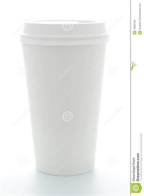 Plastik Paper Cup Es paper coffee cup with plastic top stock photo image