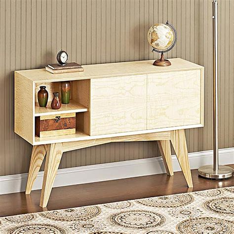 mid century chair plans mid century modern credenza woodworking plan from wood