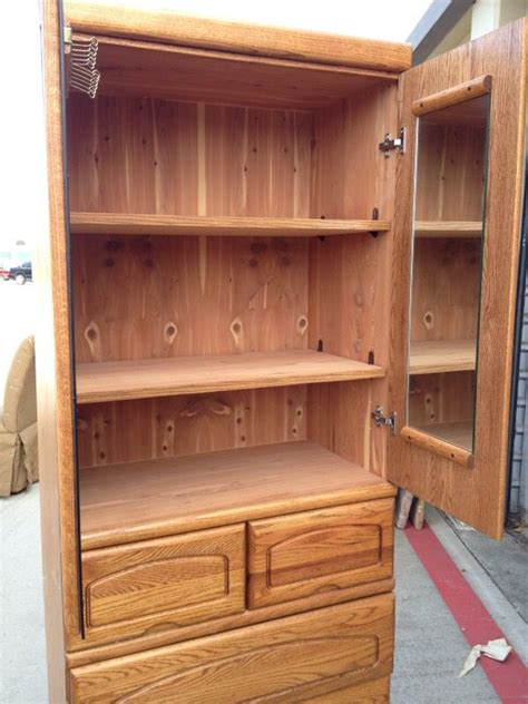 72 inch high dresser solid oak dresser cedar lined great condition 17 inches