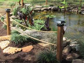 rope fence koi pond goproponds the pond doctor