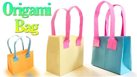 Steps Of Paper Bag - how to make an origami bag step by step paper bags
