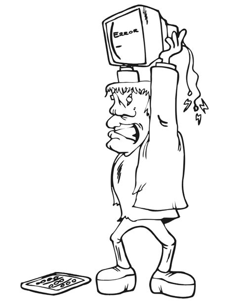 Frankenstein Coloring Page Coloring Home Frankenstein Coloring Page