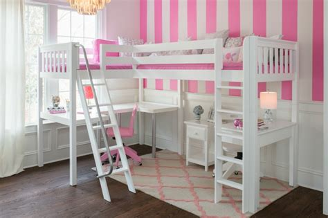 corner loft bed beautiful girl s bedroom with white corner loft maxtrix