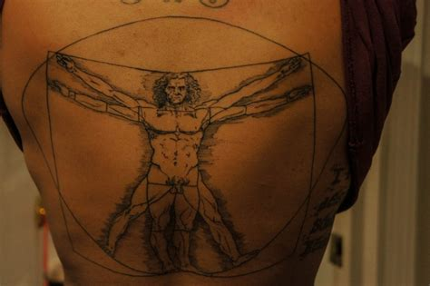 vitruvian man tattoo best tattoo design ideas