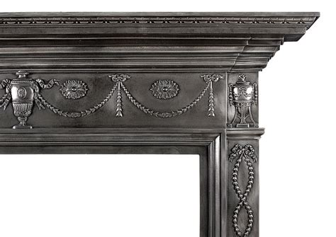 Iron Fireplace Mantel by A 19th Century Polished Cast Iron Fireplace Mantel In The
