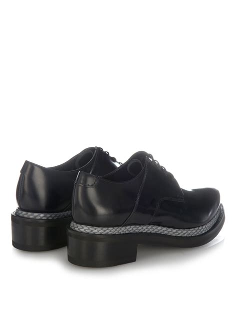 acne studios shoes lyst acne studios lark snake con lace up shoes in black