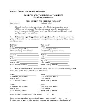 domestic relations section bill of sale form new mexico domestic relations