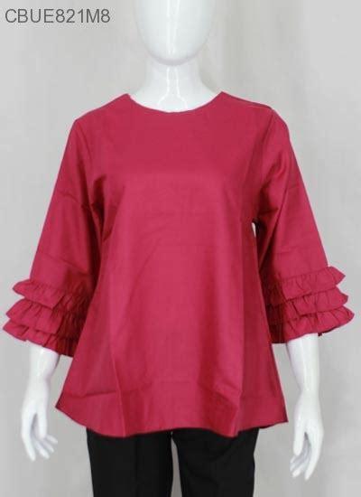 Atasan Katun Ima Model Wajik atasan katun ima agatha polos blus lengan tanggung murah batikunik