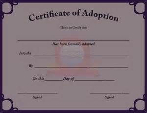 novelty birth certificate template adoption certificate certificate
