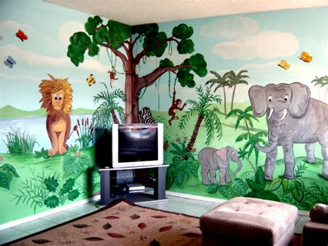 characters or animals mural painting for the room