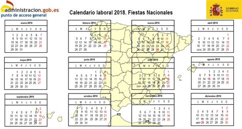 Lucia Calendario 2018 Calendario Laboral Para 2018 Relaci 243 N De Fiestas Y