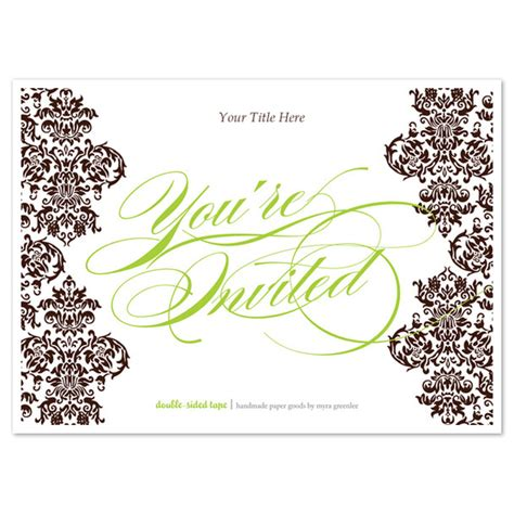 You Re Invited Brown Damask Invitations Cards On Pingg Com You Re Invited Template