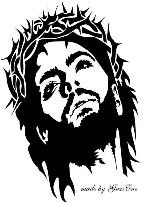 jesus wearing a crown of thorns by grasone on deviantart