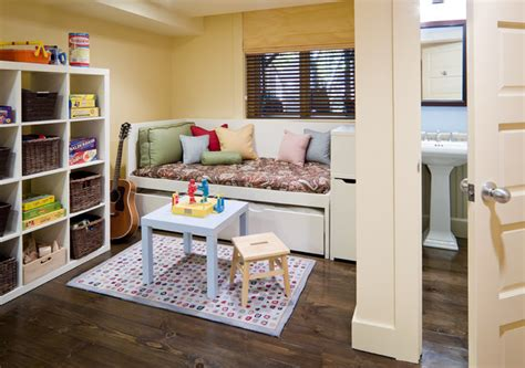 Guest Bed In Playroom Row House Interiors Play Area Guest Room
