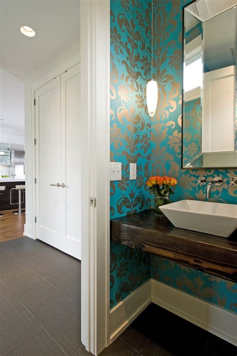 powder room wall small powder room ideas powder room contemporary with mirror blue