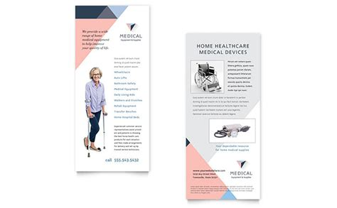 Rack Card Template Free Word by Disability Equipment Rack Card Template Design