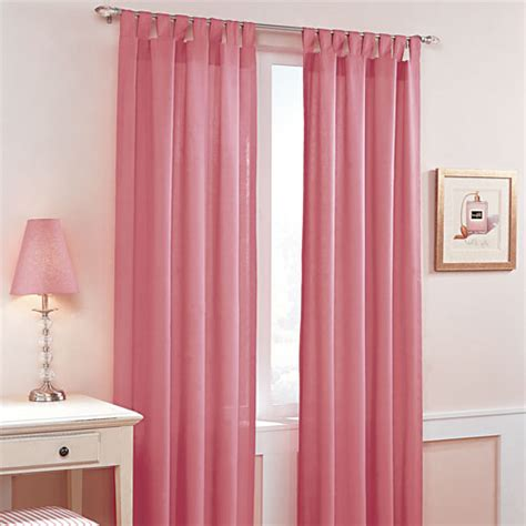 walmart pink curtains candy tab top window curtain pink decor walmart com