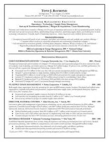 Executive Resume Example Executive Resume Best Template Collection