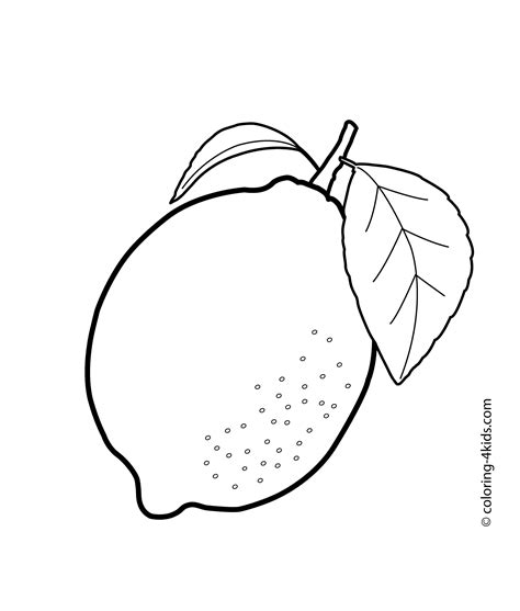 lemon tree coloring page one lemon fruits coloring pages for kids printable free