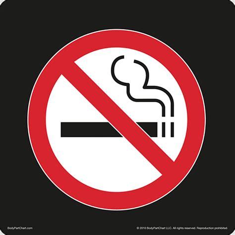no smoking sign black no smoking symbol black sign bodypartchart official site