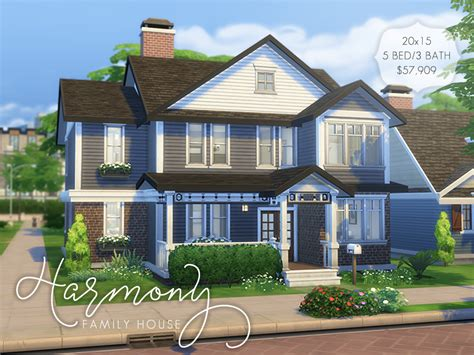 Mod The Sims Big Family Small Budget 5 Sims 3 Family House 5 Bedroom Www Indiepedia Org
